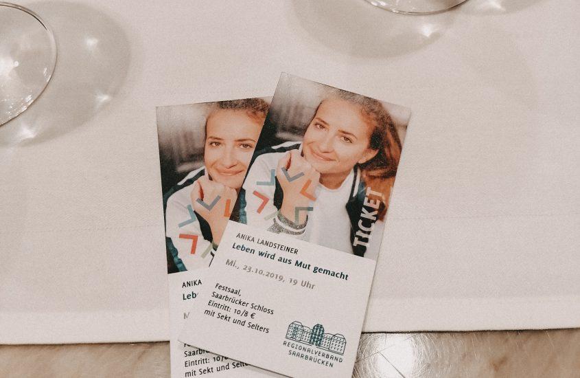 Leben wird aus Mut gemacht | Anika Landsteiner Lesung in Saarbrücken